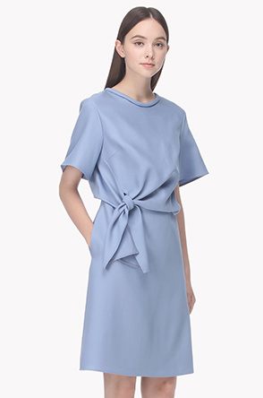 Drapery tied dress