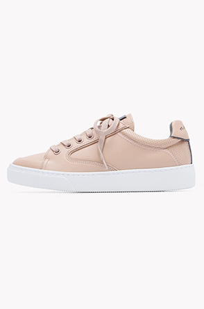 Toe cap leather sneakers