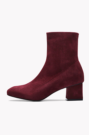 Square heel suede ankle boots