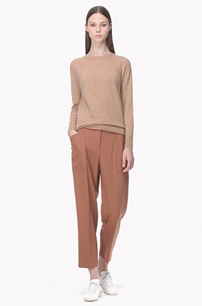 Wool blend pocket point stretch pants