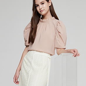 Texture block sleeve top