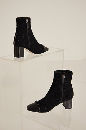 Tweed ankle boots
