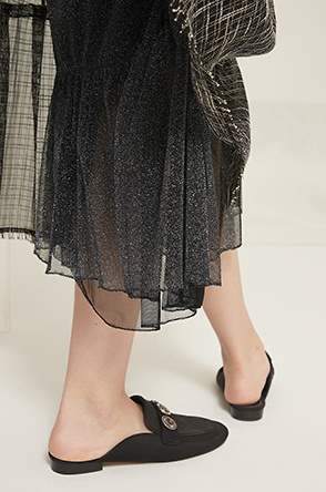 Glitter layer tulle skirt
