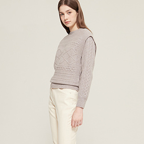 Panel knit sweater