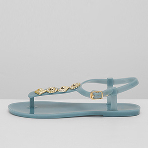 Crystal jelly sandals