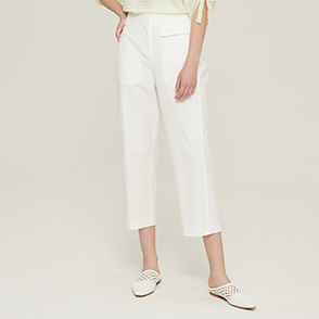 Flap crop pants