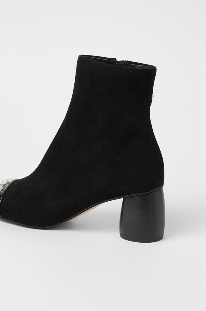 Pearl suede ankle boots