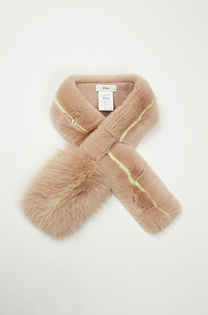 Color line fur muffler