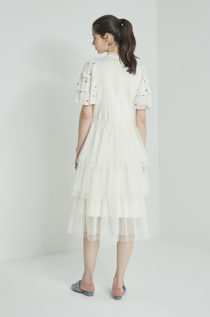 Tulle lace tiered dress