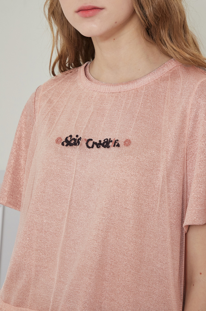 Tulle layered t-shirt