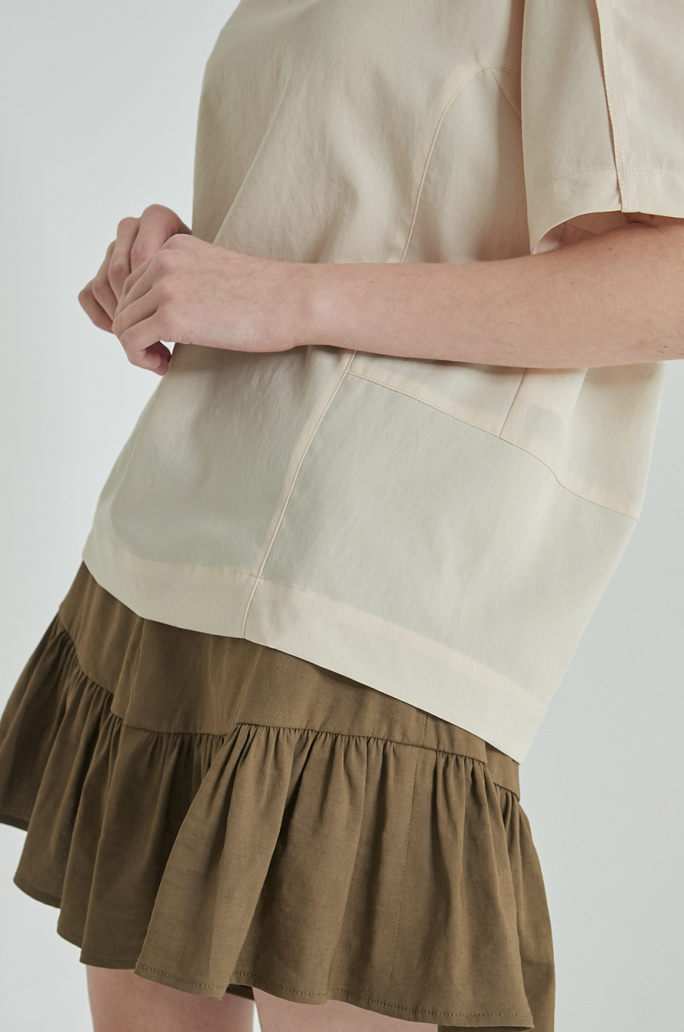 Embroidery strap top