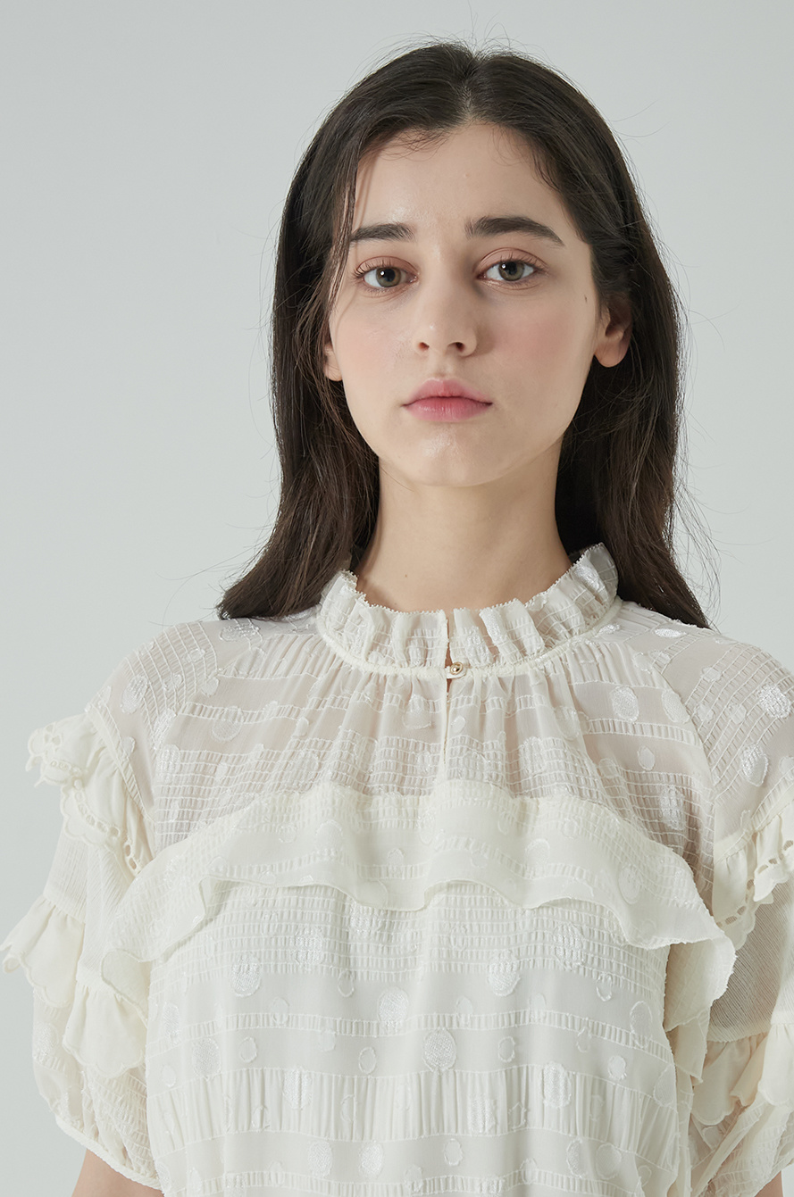 Belted frill dress