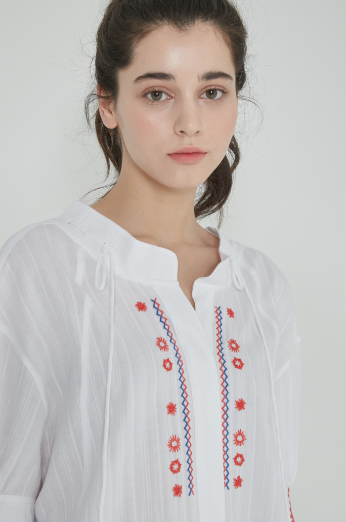 Ethnic embroidery blouse