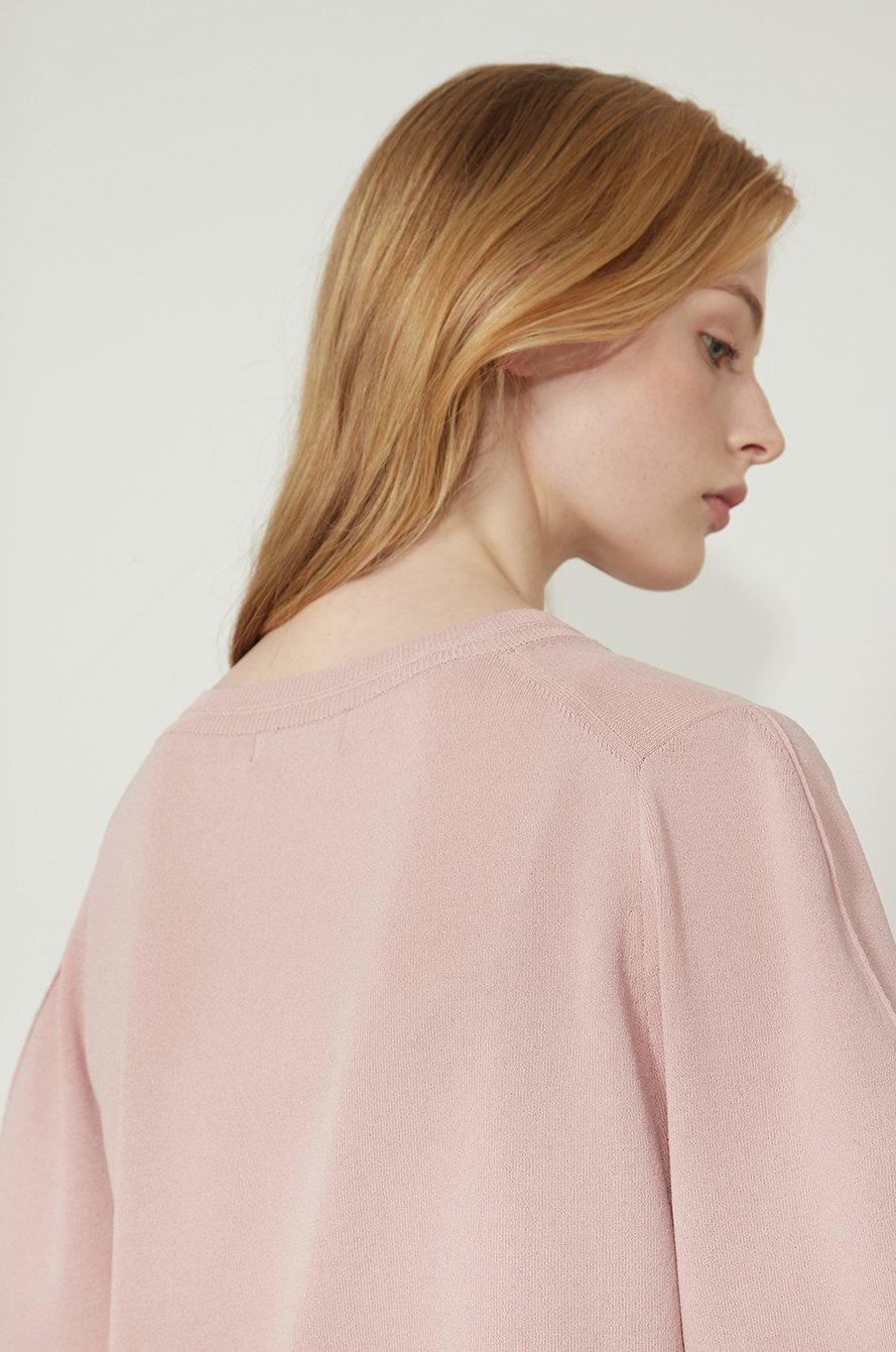 tulle layer knit top