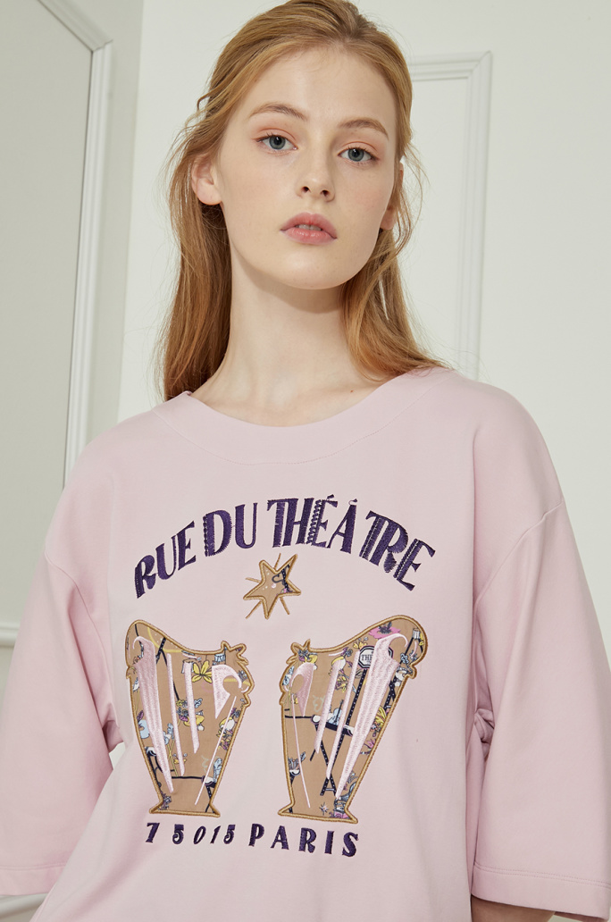 embroidered & patched T-shirt
