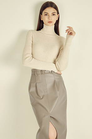 cashmere high neck knit top