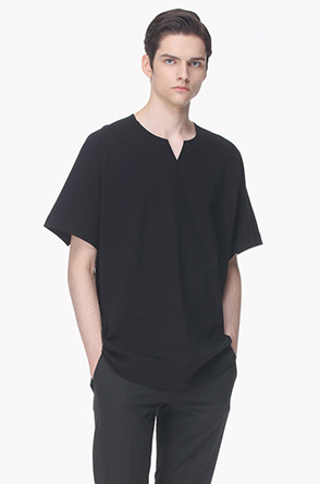 Notch neck oversized T shirt