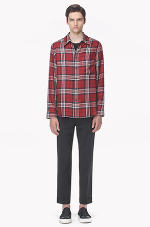 Checked pocket shirt