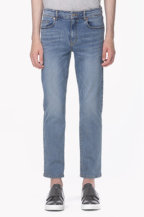Slim straight washing jeans