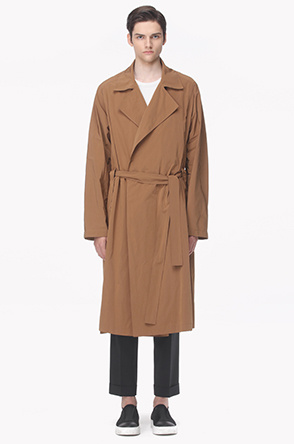 Open lapeled trench coat
