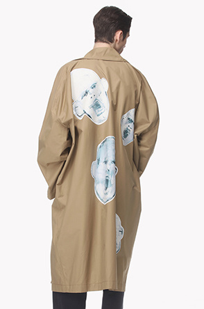 [Collaboration] Printed oversize open trench coat