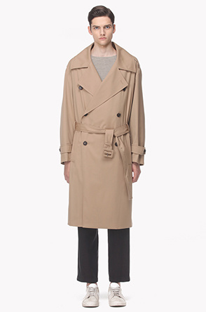 Over lapeled trench coat