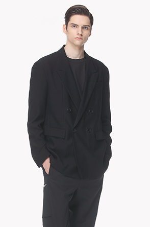 Peaked lapel double jacket