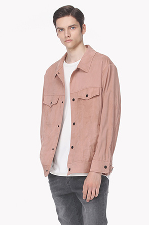 Suede shirt jacket
