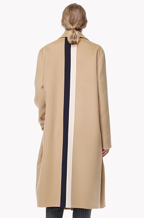 Handmade two tone color line coat