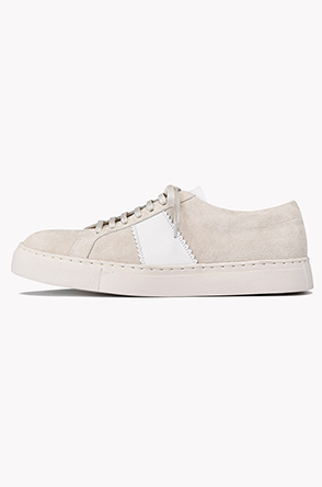 Suede leather lace up sneakers