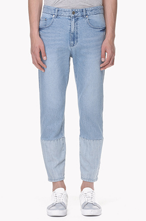 Selvedge line washed jeans