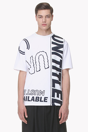 Lettering printed T shirt