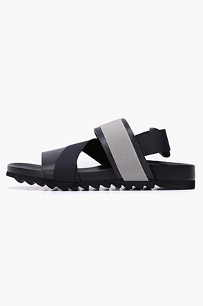 Banding leather strap sandals