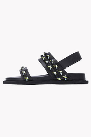 Rope line strap sandals
