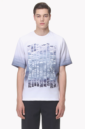 Printed patch line T shirt