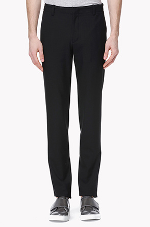 Waist piping line stretch pants