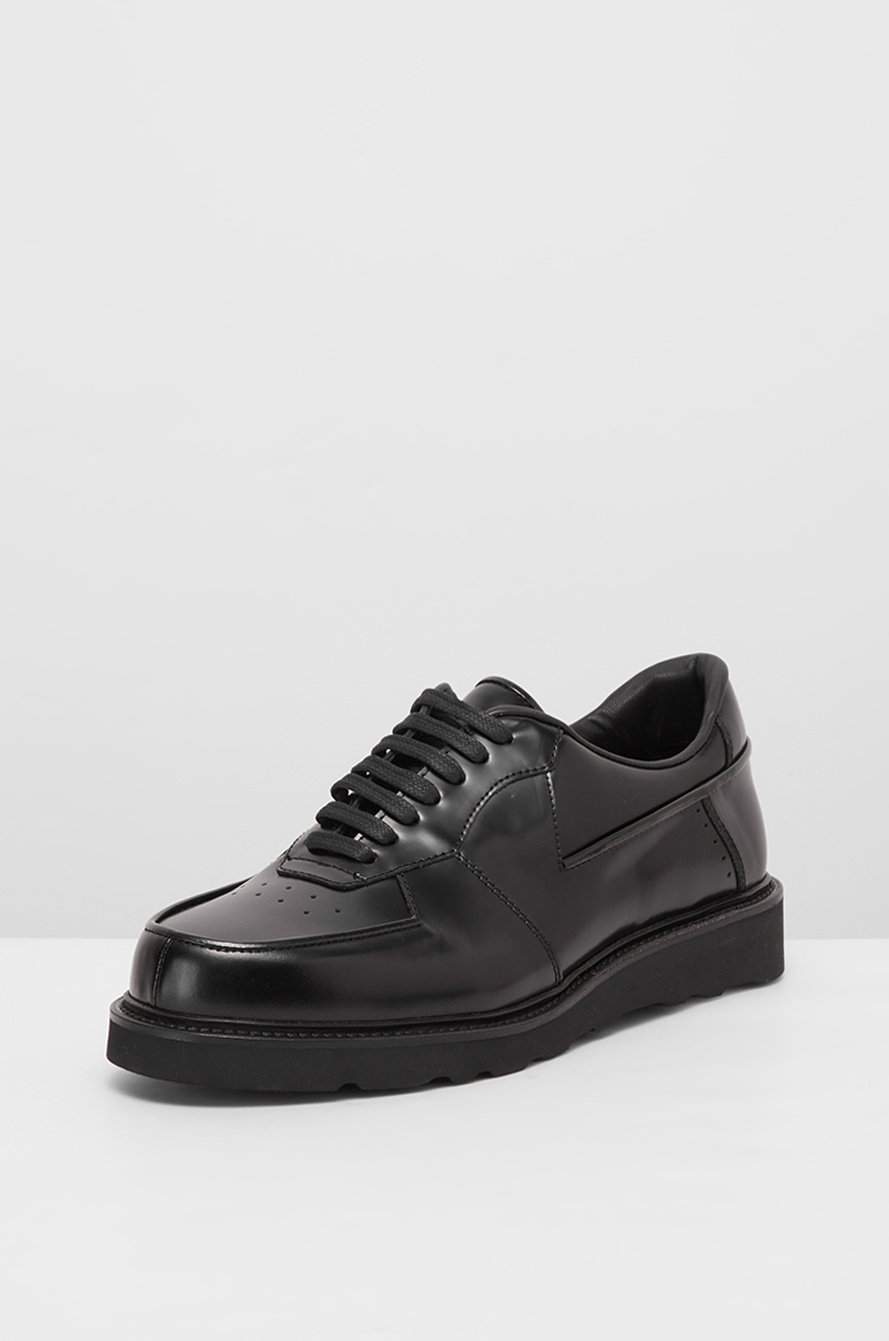 Punching leather shoes