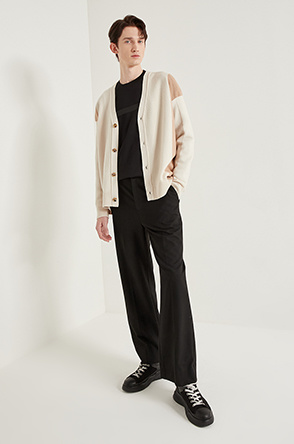 Unbalanced hem knit cardigan