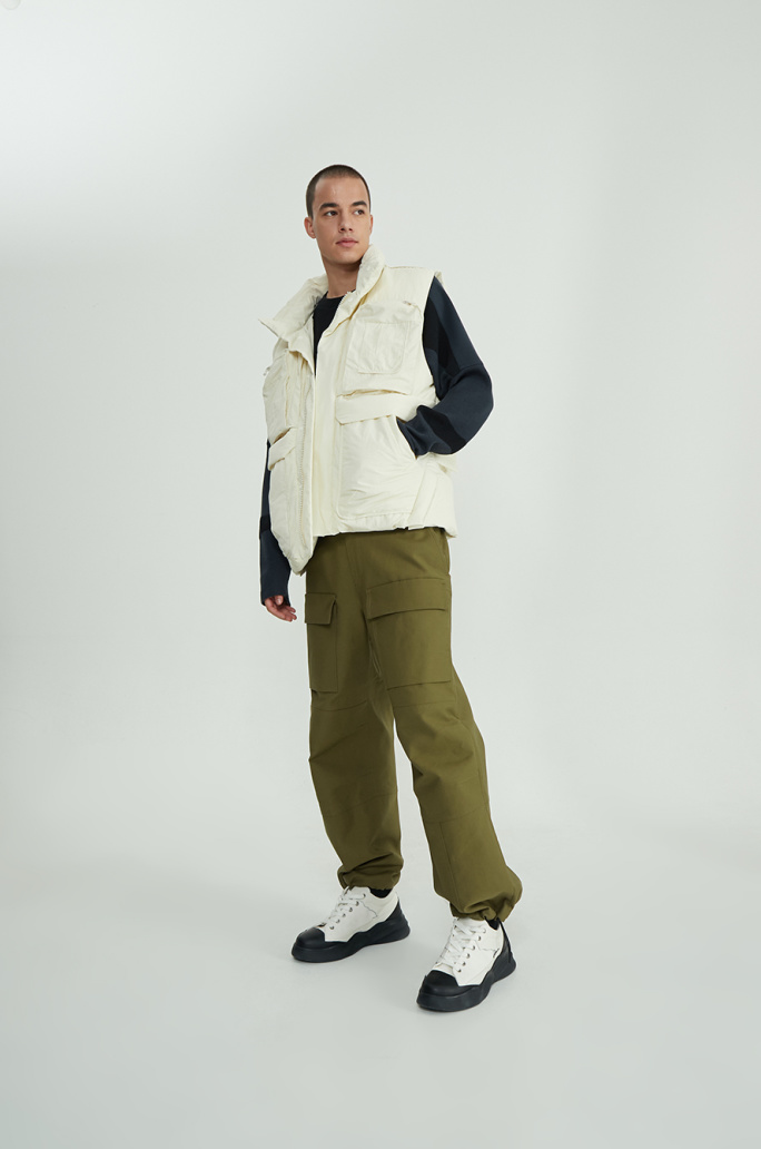 Two-way goose down jumper