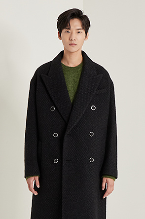 Wool blend double coat