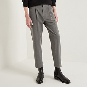 Tapered banding pants