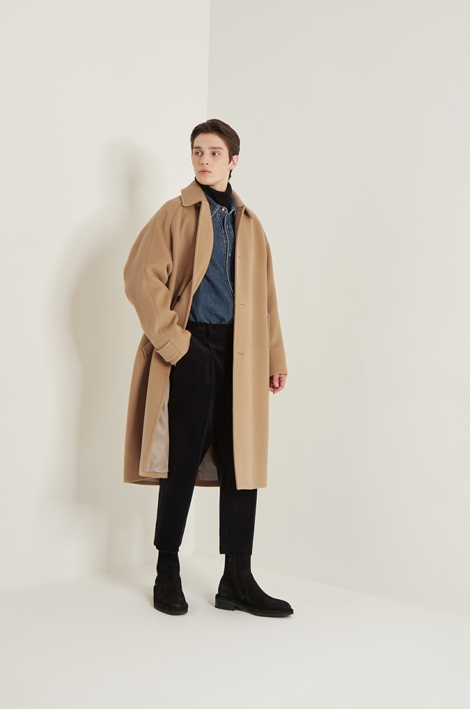Oversized mac coat