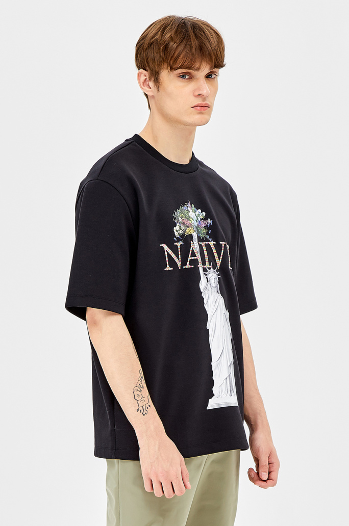 Embroidered print t-shirt