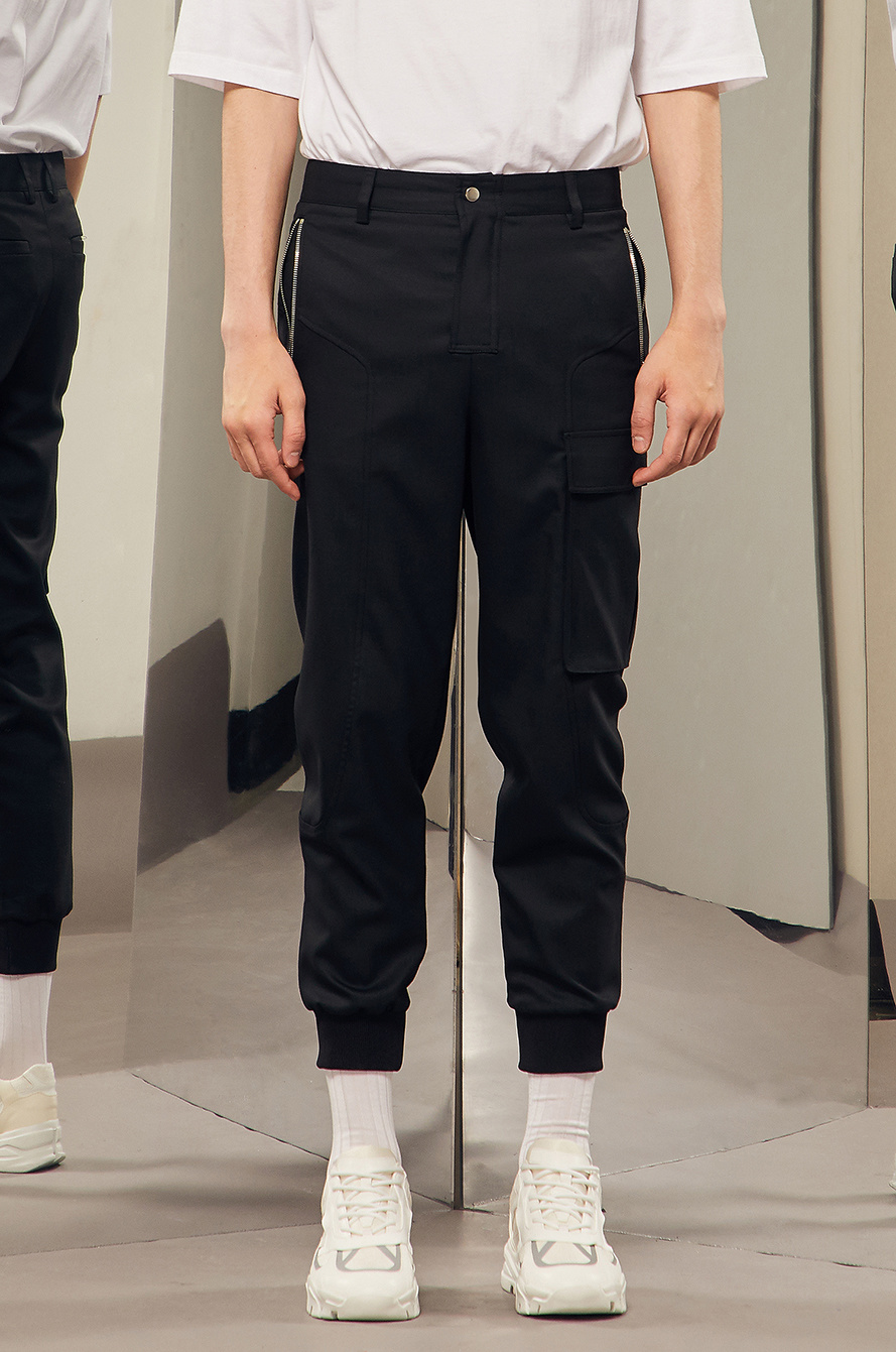 Zipper pocket jogger pant