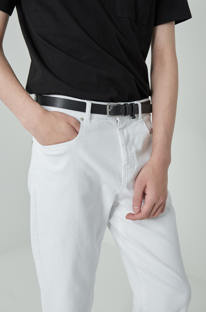 White baggy jeans