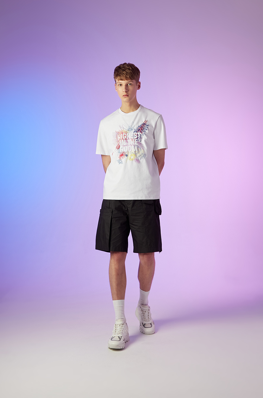 Embroidered lettering t-shirt