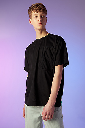 Back block hem t-shirt
