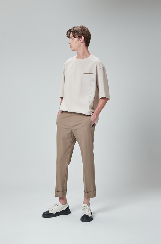 tapered turn-up pants