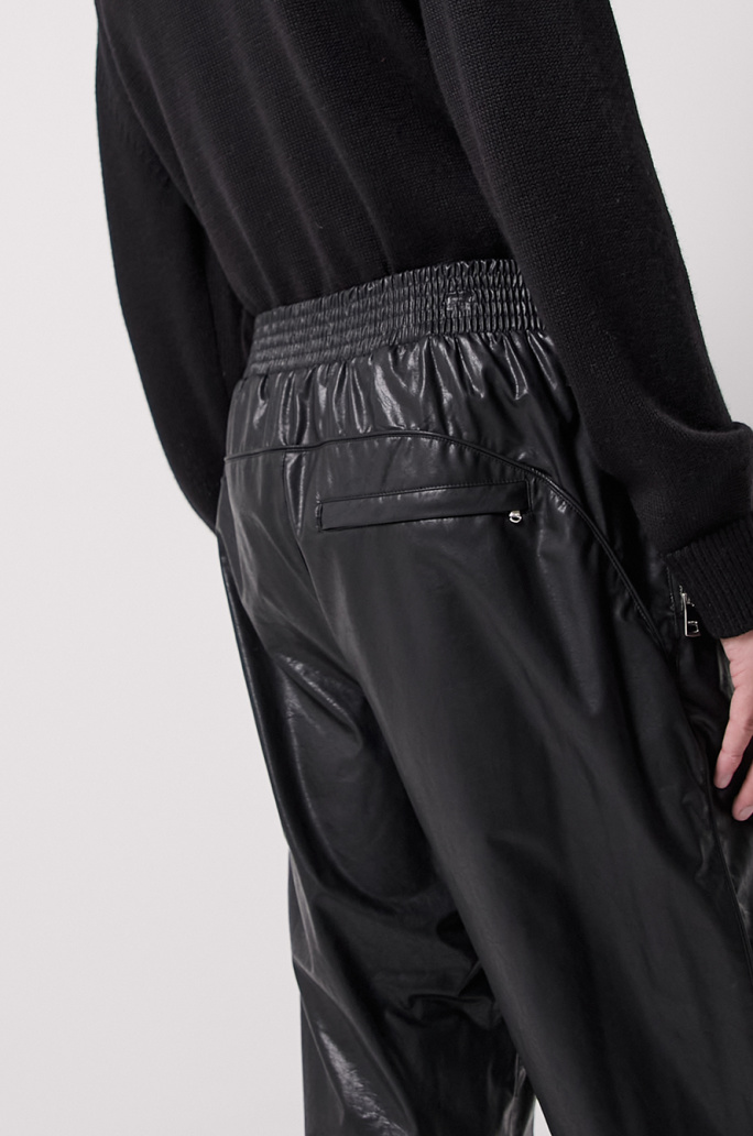 leather jogger pants