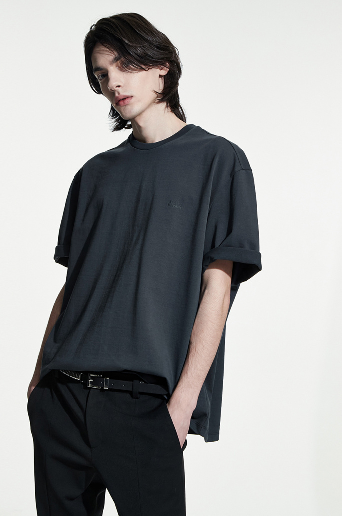 Over fit print t-shirt